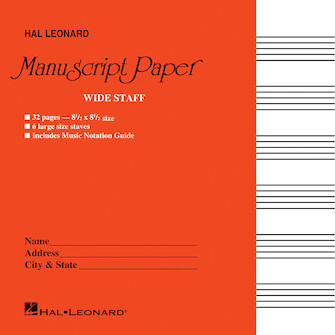 Product Cover for Wide Staff Manuscript Paper (Red Cover)