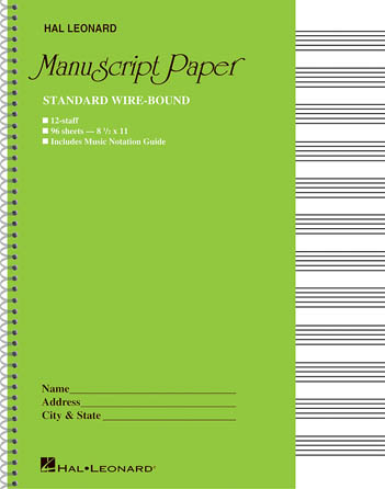 Product Cover for Standard Wirebound Manuscript Paper (Green Cover)