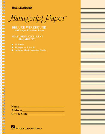 Product Cover for Deluxe Wirebound Super Premium Manuscript Paper (Gold Cover)