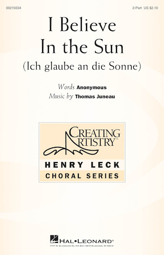 Product Cover for I Believe in the Sun