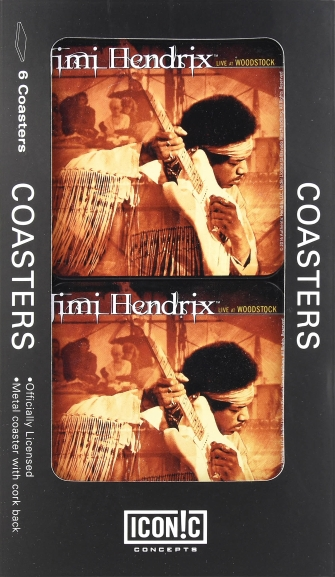 Product Cover for Jimi Hendrix – Live at Woodstock 6-Piece Tin Coaster Set