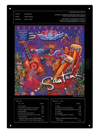 "Product Cover for Santana Supernatural Tin Sign 15-3/4"" X 11"""