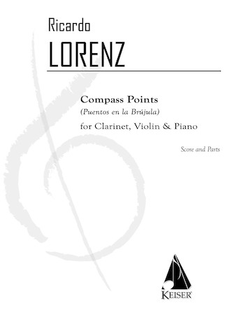 Product Cover for Compass Points (Puentos en la Brujula) for Clarinet, Violin, and Piano - Score and Parts