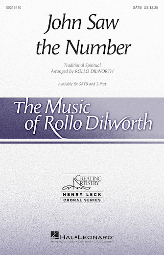 John Saw the Number : SATB : Rollo Dilworth : Sheet Music : 00215410 : 888680664640