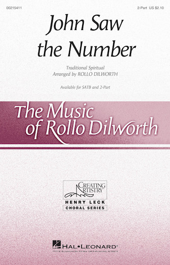 John Saw the Number : 2-Part : Rollo Dilworth : Sheet Music : 00215411 : 888680664657