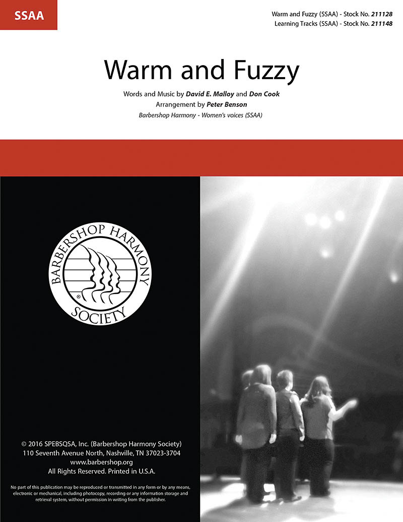 Warm and Fuzzy : SSAA : Peter Benson : Billy Gilman : Billy Gilman : Sheet Music : 00218597 : 812817021235
