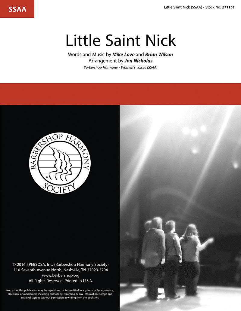 Little Saint Nick : SSAA : Jon Nicholas : Brian Wilson : Sheet Music : 00218600 : 812817021266