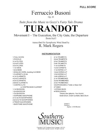 Product Cover for Turandot – Movement 1 from the Suite To Gozzi's Fairy Tale Drama