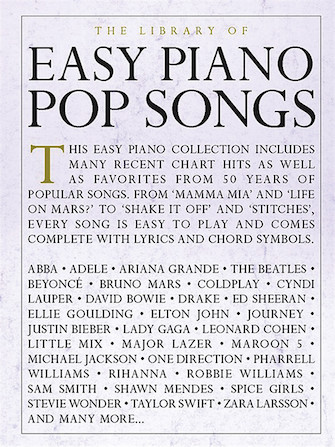 Product Cover for The Library of Easy Piano Pop Songs
