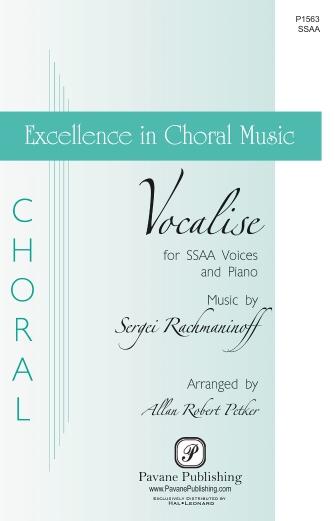 Vocalise : SSAA : Allan Robert Petker : Sergei Rachmaninoff : Sheet Music : 00232830 : 888680679255