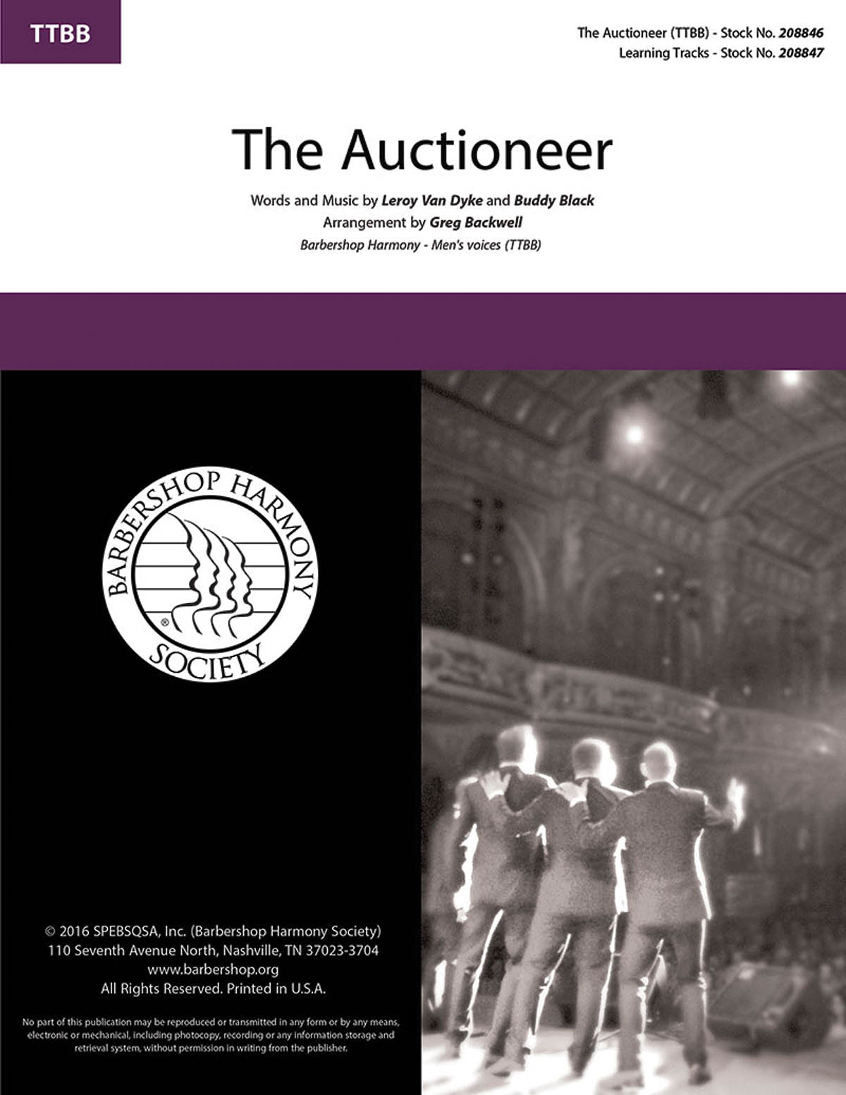 The Auctioneer : TTBB : Greg Blackwell : Leroy Van Dyke : Bluegrass Student Union : DVD : 00234452 : 812817021150
