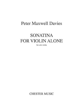 Product Cover for Sonatina for Violin Alone