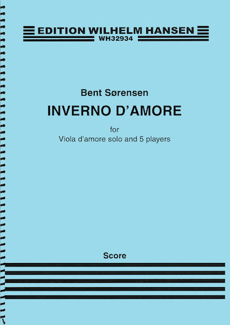 Product Cover for Inverno D'amore for Viola D'amore and Ensemble