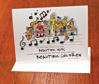 Product Cover for Beautiful Music, Beautiful Children Notecards
