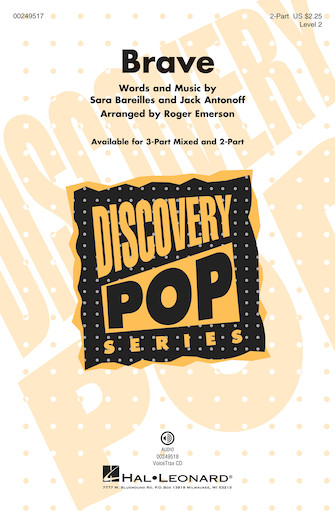 Brave : 2-Part : Roger Emerson : Sara Bareilles : Sheet Music : 00249517 : 888680711108