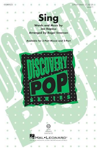 Sing : 3-Part : Roger Emerson : Joe Raposo : Sesame Street : Sheet Music : 00249523 : 888680711153