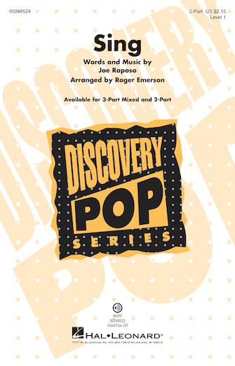 Sing : 2-Part : Roger Emerson : Joe Raposo : Sesame Street : Sheet Music : 00249524 : 888680711160