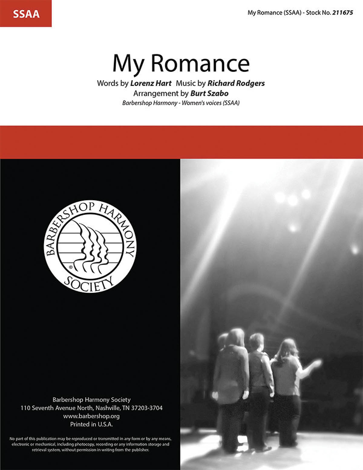 My Romance : SSAA : Burt Szabo : Richard Rodgers :  1 CD : 00251414 : 812817021518