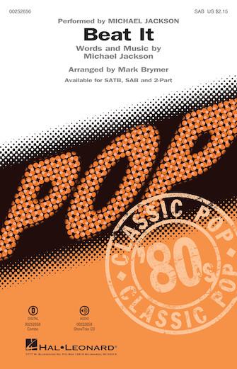 Beat It : SAB : Mark Brymer : Michael Jackson : Michael Jackson : Sheet Music : 00252656 : 888680718664
