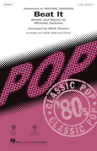 Beat It : 2-Part : Mark Brymer : Michael Jackson : Michael Jackson : Sheet Music : 00252657 : 888680718671
