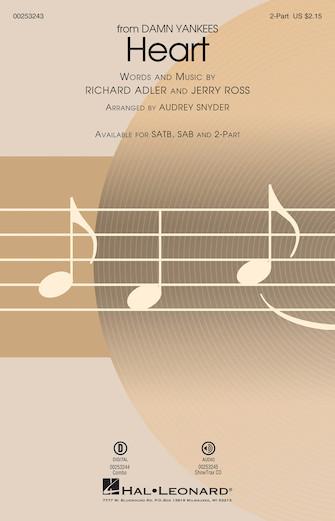 Heart : 2-Part : Audrey Snyder : Richard Adler : Damn Yankees : Sheet Music : 00253243 : 888680719029