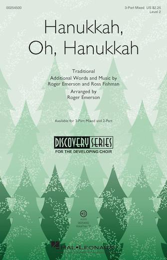 Hanukkah, Oh, Hanukkah : 3-Part Mixed : Roger Emerson : Sheet Music : 00254500 : 888680721381