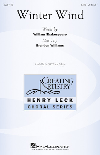Winter Wind : SATB : Brandon Williams : Brandon Williams : Sheet Music : 00254646 : 888680721855