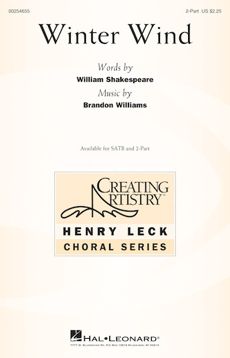 Winter Wind : 2-Part : Brandon Williams : Brandon Williams : Sheet Music : 00254655 : 888680721862