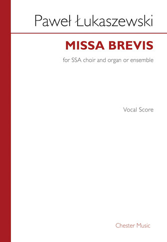 Product Cover for Missa Brevis Vocal Score SSA, Organ