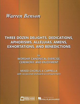 Product Cover for Three Dozen Delights, Dedications, Aphorisms, Alleluias, Amens, Exhortations and Benedictions