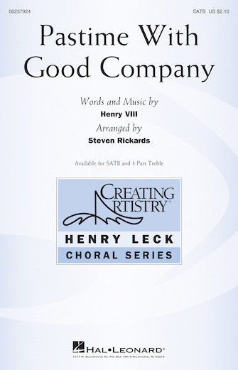 Pastime With Good Company : SATB : Steven Rickards : Songbook & 1 CD : 00257924 : 888680724627