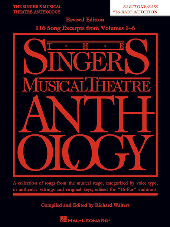 Product Cover for Singer's Musical Theatre Anthology: 16-Bar Audition – Revised