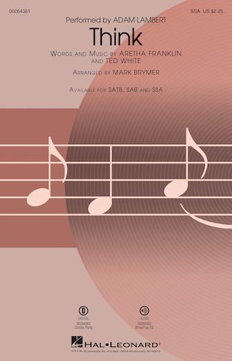 Think : SSA : Mark Brymer : Ted White : Aretha Franklin : Sheet Music : 00264361 : 888680730437