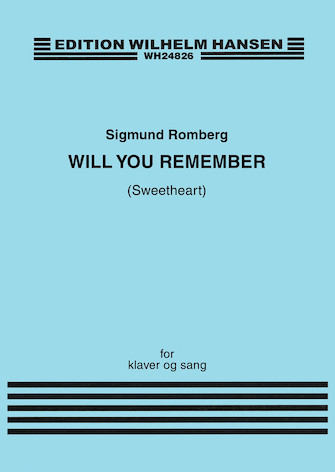 Product Cover for Will You Remember