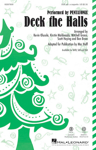 Deck the Halls : SSA : Mac Huff : Pentatonix : Sheet Music : 00267809 : 888680735173