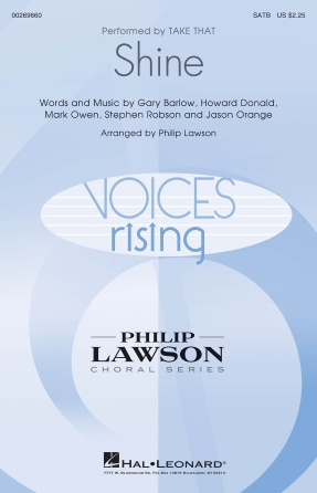 Shine : SATB : Philip Lawson : Take That : Sheet Music : 00269660 : 888680738938