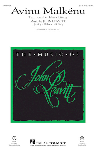 : SAB : John Leavitt : Sheet Music : 00274967 : 888680741235