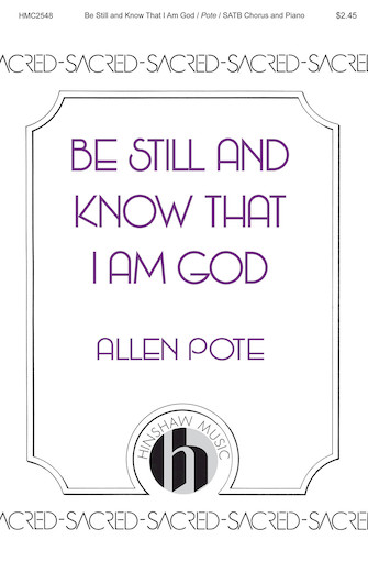 Product Cover for Be Still and Know That I Am God