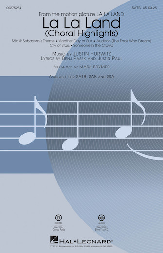 La La Land : SATB : Mark Brymer : Justin Paul : La La Land : Sheet Music : 00275234 : 888680743499