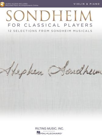 Sondheim For Classical Players - Violin - With Online Piano Accompaniments