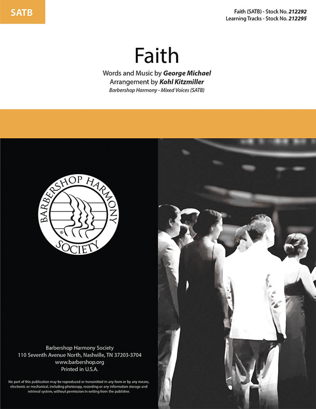 Faith : SATB : Kohl Kitzmiller : George Michael : Sheet Music : 00276678 : 888680748593