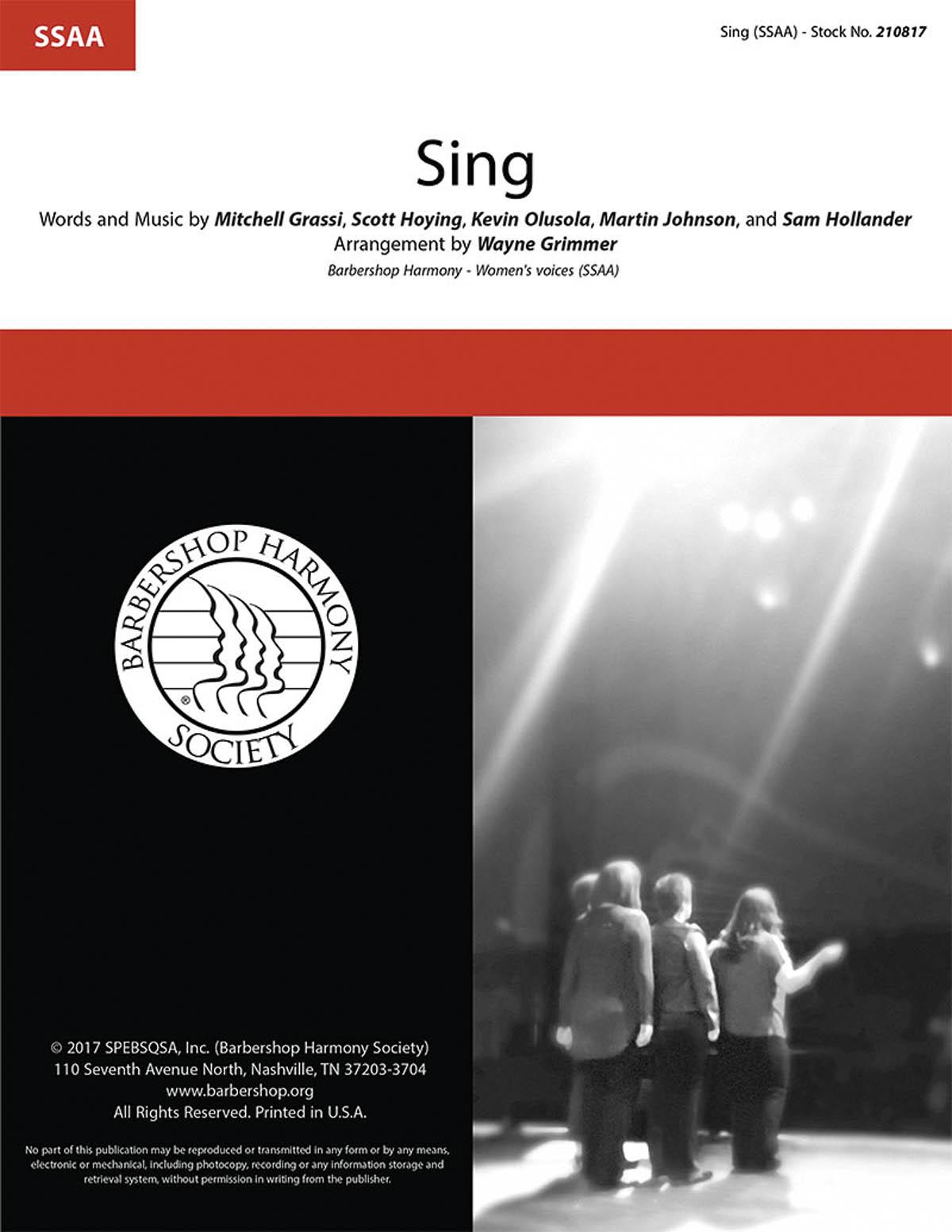 Sing : SSAA : Wayne Grimmer : Pentatonix : Sheet Music : 00276681 : 812817021129