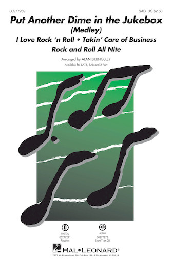 Put Another Dime in the Jukebox : SAB : Alan Billingsley : Sheet Music : 00277269 : 888680748791