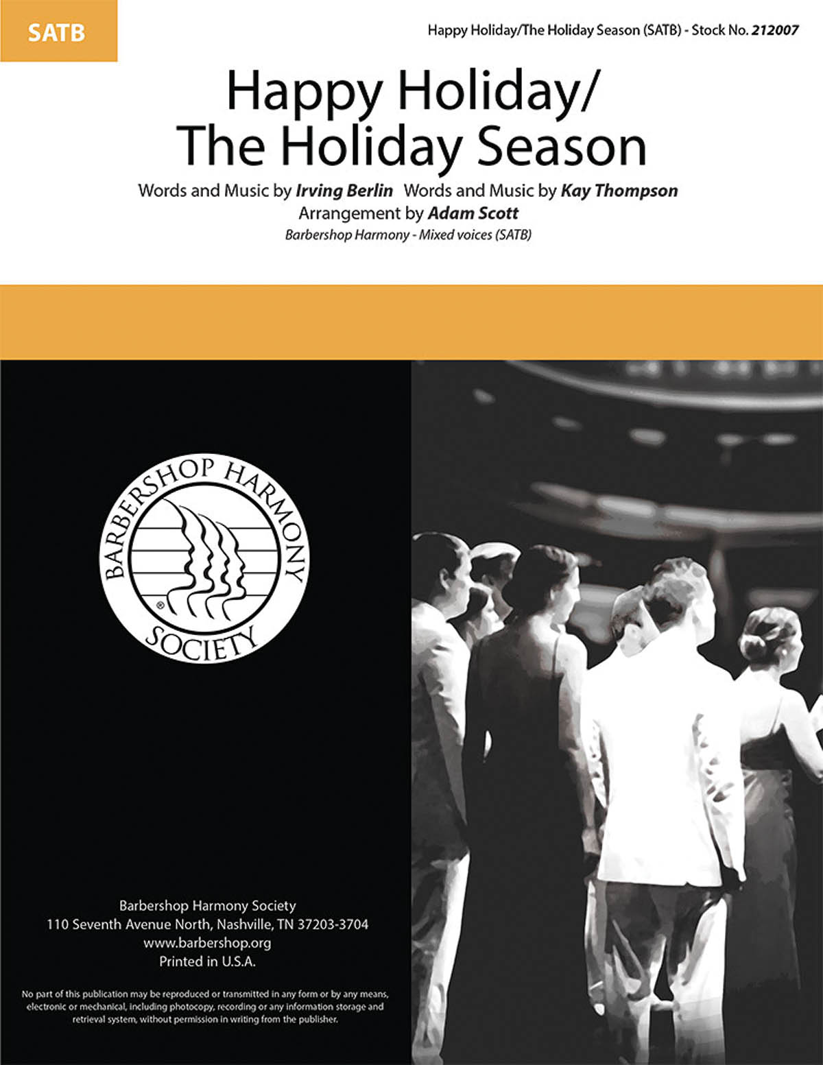 Happy Holiday/The Holiday Season : SATB : Adam Scott : Kay Thompson : Sheet Music : 00283281 : 812817021570