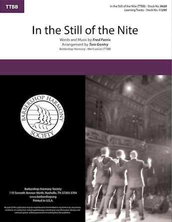 In the Still of the Nite : TTBB : Tom Gentry : Fred Parris : Sheet Music : 00283284 : 888680826314