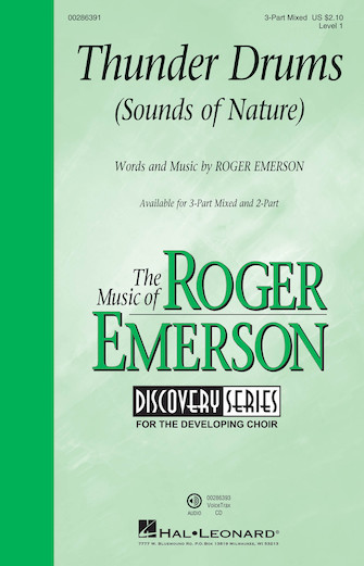 Thunder Drums : 3-Part Mixed : Roger Emerson : Roger Emerson : Sheet Music : 00286391 : 888680894962