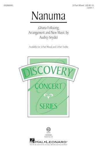 Nanuma : 3-Part Mixed : Audrey Snyder : Sheet Music : 00286666 : 888680897956