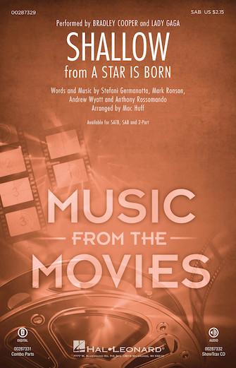 Shallow : SAB : Mac Huff : Mark Ronson : Lady Gaga : A Star Is Born : Sheet Music : 00287329 : 888680903640