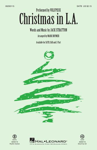 Christmas in L.A. : SATB : Mark Brymer : Jack Stratton : Vulfpeck : Sheet Music : 00293115 : 888680933593