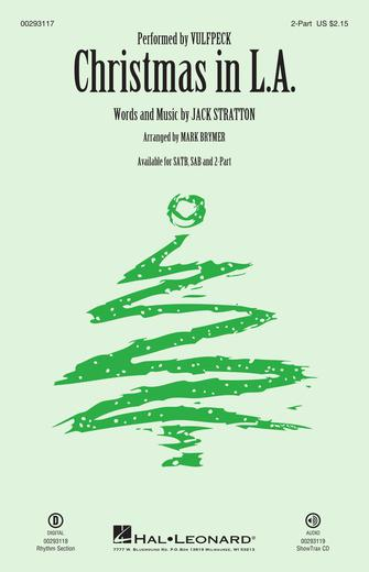 Christmas in L.A. : 2-Part : Mark Brymer : Jack Stratton : Vulfpeck : Sheet Music : 00293117 : 888680933616